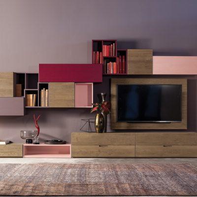 Soggiorno-moderno-libreria-componibile-legno-artigianale-classico-design (5)