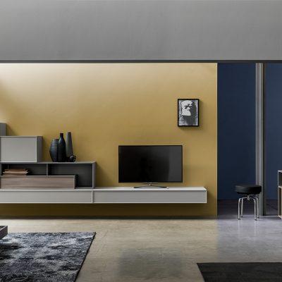 Soggiorno-moderno-libreria-componibile-legno-artigianale-classico-design