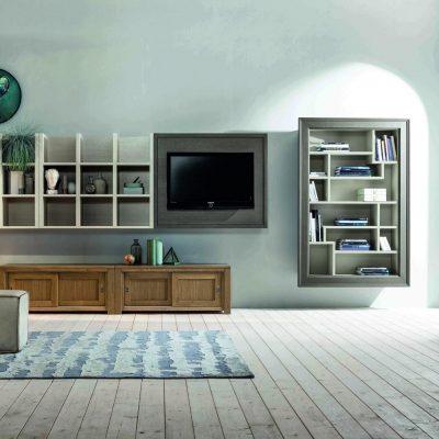 Soggiorno-moderno-libreria-componibile-legno-rovere-cuneo-polonghera-torino-(1)
