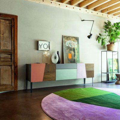 Soggiorno-moderno-libreria-componibile-legno-rovere-torino-cuneo-polonghera-(2)