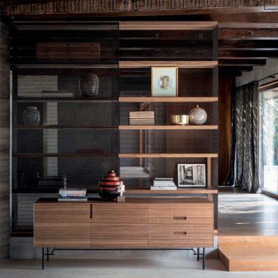 Soggiorno-moderno-libreria-componibile-legno-rovere-cuneo-torino-polonghera-(7)