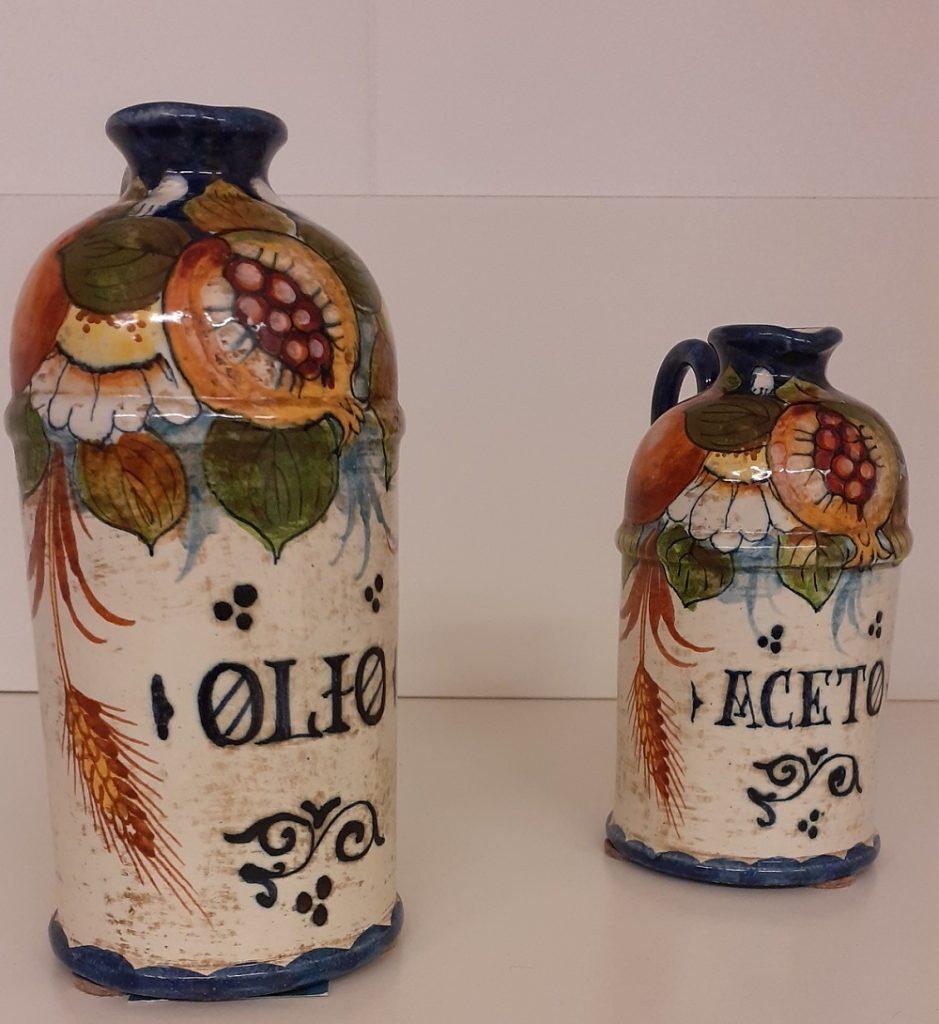 Oliera ceramica decorata a mano