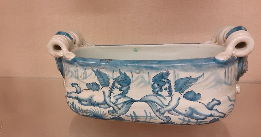 Fioriera ceramica decorata a mano