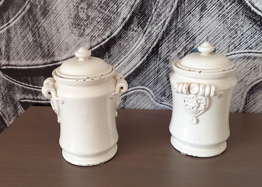 Barattolo ceramica bianca