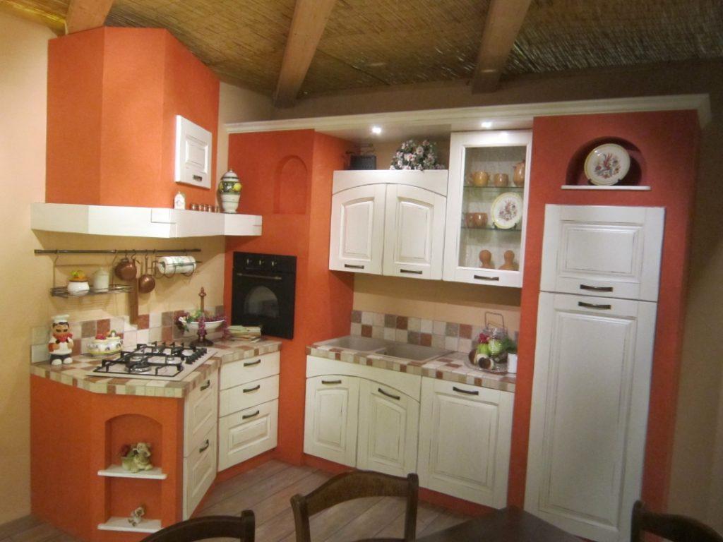Cucina angolare in muratura